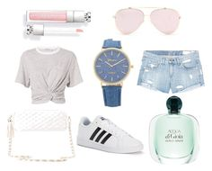 """Chilln' ♡"" by maliroberts ❤ liked on Polyvore featuring T By Alexander Wang, rag & bone/JEAN, adidas and Charlotte Russe"