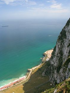 View from the rock of Gibraltar. Rock Of Gibraltar, British Overseas Territories, Iberian Peninsula, Far Away, Amazing Places, Continents, Trip Planning, Beaches, The Good Place