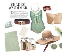 """Mint & Burgundy in Summer"" by horse-dance-princess on Polyvore featuring Hammamas, Lilliput & Felix, Balmain, Valentino, LC Lauren Conrad, SHADE Collection, INC International Concepts, Origins, H&M and Smythson"