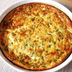 Crustless Cottage Cheese Quiche, a recipe from the ATCO Blue Flame Kitchen. Cottage Cheese Breakfast, Cottage Cheese Recipes, Cottage Cheese Pancakes, Cottage Cheese Pasta, Blue Cheese Recipes, Brunch Dishes, Breakfast Dishes, Breakfast Time, Breakfast Recipes