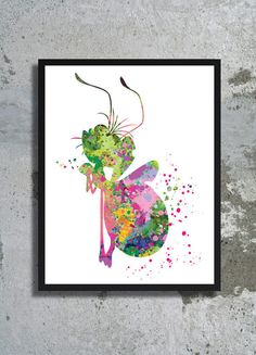 The Princess and the Frog Watercolor Print Ray The Firefly print Disney nursery princess Tiana baby room decor children poster birthday gift