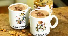 Varm choklad med jordnötssmör - Vegomagasinet Smoothies, Mugs, Tableware, Smoothie, Dinnerware, Tumblers, Tablewares, Mug, Dishes