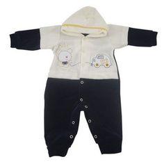 5f02d8a9a Macacão Bebê Plush com Capuz Ursinho Bibi Menino Bebê