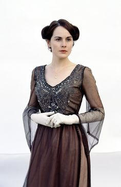 Michelle Dockery as Lady Mary, Downton Abbey...Love her dress