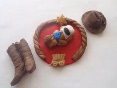 Fondant Edible Baby cowboy western    Cake Topper Baby Shower Birthday .  sale on Etsy, $23.00