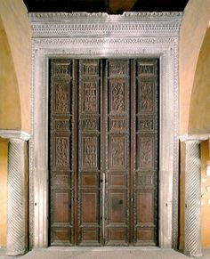 5th Century wooden doors of the Basilica of Santa Sabina, Rome.