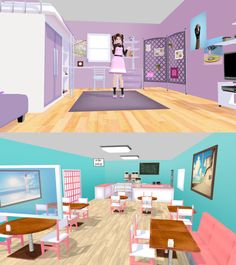 yura's room + cafe [ +dl ] by AkemiWhy