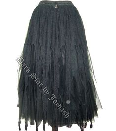 Dark Star Black Tulle & Spiderweb Lace Gothic Skirt [DS/SK/7244] - $89.99 : Mystic Crypt, the most unique, hard to find items at ghoulishly great prices!