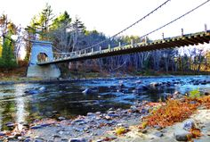 Wire Suspension Bridge, Maine-from our October 2013 trip