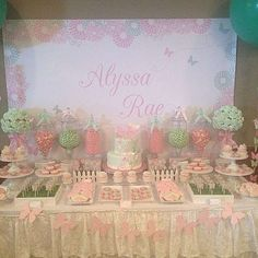 Pink & Mint Butterfly Baby Shower Party Ideas | Photo 1 of 12 | Catch My Party