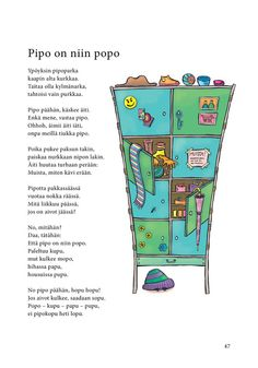 Pipo on niin popo (Jari Tammi: Nakkikirja, Pikku-idis Learn Finnish, Kindergarten Crafts, Working With Children, Riddles, Live Life, Poems, Language, Classroom, Teacher