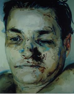 Jenny Saville THE WAY THIS PAINTING CREATES MOOD WITH COLOR, THE PAINTERLY STOKES