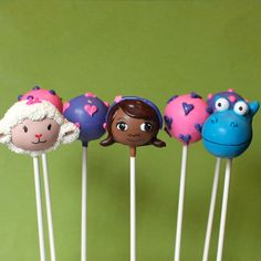 12 Cake Pops inspired by Doc McStuffins Lambie by SweetWhimsyShop