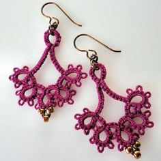 Image result for tatting with beads
