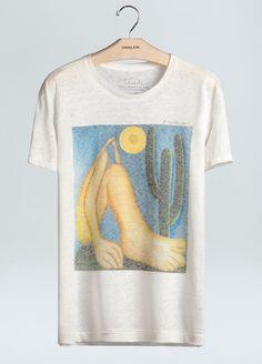 cbf2895e13f8d T-Shirt Linen Abaporu Brazilian Soul