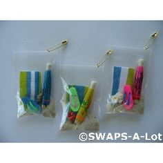 Beach in a bag, going to make these for our pool party.