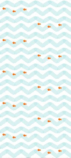 Goldfish Wallpaper - cute for a kids bathroom