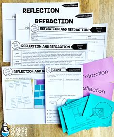 5th grade: Reflection vs. Refraction, circuits, forms of energy, and force