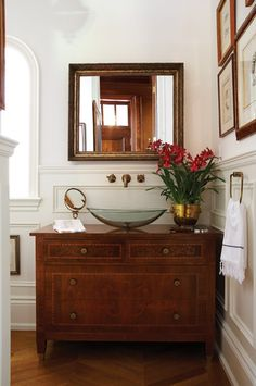 Classic & Beautiful Powder Room | House & Home