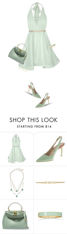 """""""Mint Doll"""" by houston555-396 ❤ liked on Polyvore featuring Alice + Olivia, Betsey Johnson, City Chic, Fendi and BillyTheTree"""