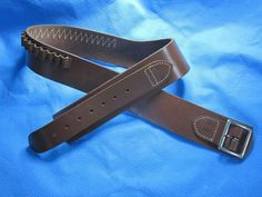 Hunter 158 Single Leather Buscadero Belt .38 Caliber - Large - Brown LH  | eBay
