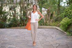 Moda corporativa - look do dia - look de trabalho - look verão - moda executiva - work outfit - office outfit - summer - calça social - orange