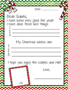 Free letter to Santa template!: