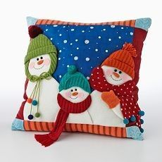 Cushion or bag front for Winter Christmas Applique, Christmas Sewing, Christmas Deco, Christmas Colors, Christmas Snowman, Christmas Projects, Christmas Stockings, Christmas Ornaments, Snowman Crafts