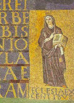 Basilica di Santa Sabina, Roma. I mosaici del V secolo (432–440). La Chiesa dei gentili.