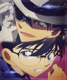 Fanarts Anime, Manga Anime, Detective Conan Shinichi, Kaito Kuroba, Detective Conan Wallpapers, Kaito Kid, Detektif Conan, Kudo Shinichi, Magic Kaito