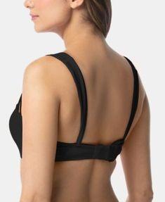 3adffe01da2d2 Coco Reef Bra-Sized Convertible Underwire Strappy Bikini Top - Black  32DD/34DD