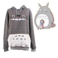 Totoro Hoodie My Neighbor Totoro Big Face Hoodie Tee Sweatshirt for Teens Adult Unisex Top Jumper Jacket Cosplay