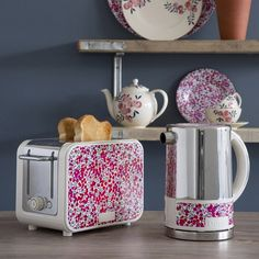 Inject personality into your kitchen with the latest Liberty Flowers arrivals @dualit_ltd