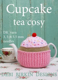 Knitting pattern for a tea cozy to knit . Debi Birkin designs are world known with a fan club and website. This is a PDF knitting pattern which Tea Cosy Knitting Pattern, Tea Cosy Pattern, Knitting Patterns, Scarf Patterns, Knitted Tea Cosies, Tea Cozy Crochet, Teapot Cover, Crochet Motifs, Crochet Pattern