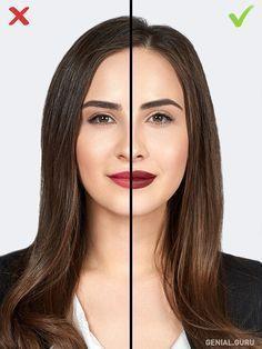 10 Errores de maquillaje que te agregan años. 3-El tono de pintalabios. Definitivamente, hay que pintarse los labios y no temer los tonos saturados. Pero no olvides que si tienes labios delgados, el color oscuro los hará lucir aún más delgados visualmente. Si les falta volumen, es mejor aplicar el labial un poco por encima del contorno natural de tus labios.