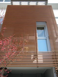 Even when installed on large commercial building, Fortina offers a consistent expression with ease of installation that can shorten construction time. Here in Vintage Walnut.