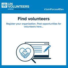 Online volunteering matches untapped global online talent with urgent development needs. onlinevolunteering.org #JoinForces4Dev #NGO #UN #Public_Institutions