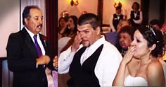 When it came time for this father of the bride's toast, he had a big surprise. His daughter Nicole is a sign language interpreter, and her dad spent almost a year learning this song. And Nicole's reaction is tearjerking!