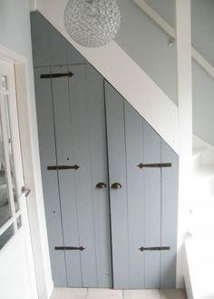 Corner Closet Ideas Diy Stairs 47 Ideas For 2019 Stair Storage, Cupboard Storage, Closet Storage, Diy Storage, Loft Stairs, House Stairs, Corner Closet, Under Stairs Cupboard, Interior Stairs