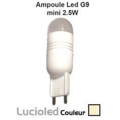 Ampoule led G9 2.5W COB mini Blanc ivoire