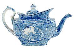 Antique Staffordshire Teapot on OneKingsLane.com