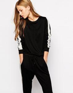 Vila Contrast Side Sweatshirt