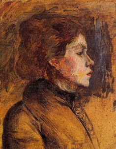 Woman's Head - 1899.  Henri de Toulouse-Lautrec.(1958-1901)