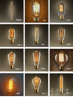 Vintage designer big household light bulb E27 incandescent bulb Edison screw-art light bulb - Taobao