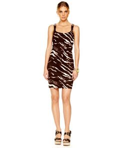 MICHAEL Michael Kors Animal Buckle Dress  not fitted like in the picture bit aline. purchased