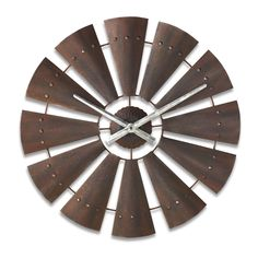 You can have a country state of mind no matter where you live with accessories from Western Living. The Windmill Clock keeps time stylishly and is an artistic addition to your wall. This clock is made
