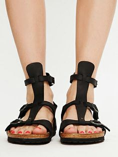 Gladiator Birkenstock Chania Oiled Leather Sandal $130