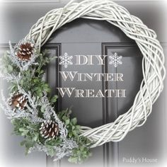 15 Winter Wreath Ideas - Krafty Owl