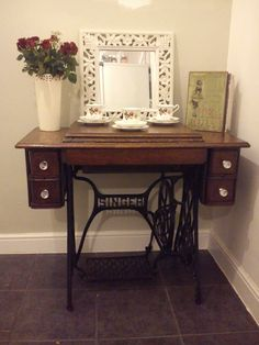 My singer sewing machine table x