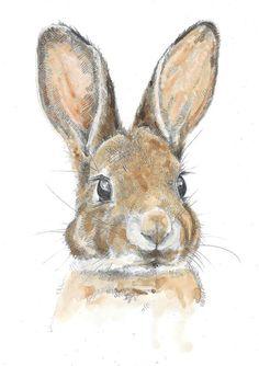 A4 Print  Little Leveret  Watercolour by HannahLongmuir on Etsy, £9.00